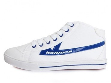 Warrior Footwear High Top Canvas Sneaker White Blue