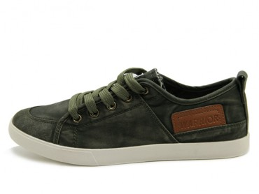Warrior Footwear Vintage Casual Shoes Army Green