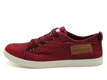 Warrior Footwear Vintage Casual Shoes Claret