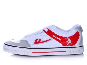 Warrior Footwear Basketball Shoes White Red Stripe