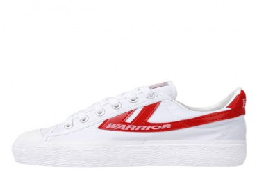 Warrior Footwear White Red Shoes