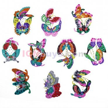 Chinese Paper Cutting Chinese Colorful Butterfly Set