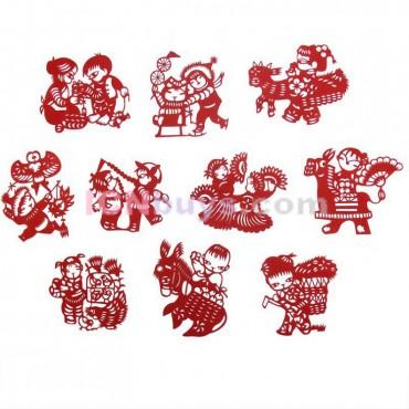 Chinese Paper Cutting Chinese Folk Kids