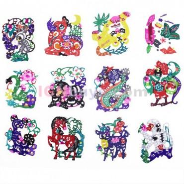 Chinese Paper Cutting Chinese Zodiac Set