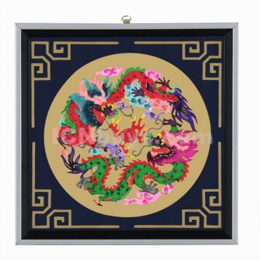 Decorative Paper-cut Frame Chinese Dragons