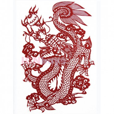 Paper Cutting Chinese Zodiac Dragon Healthy