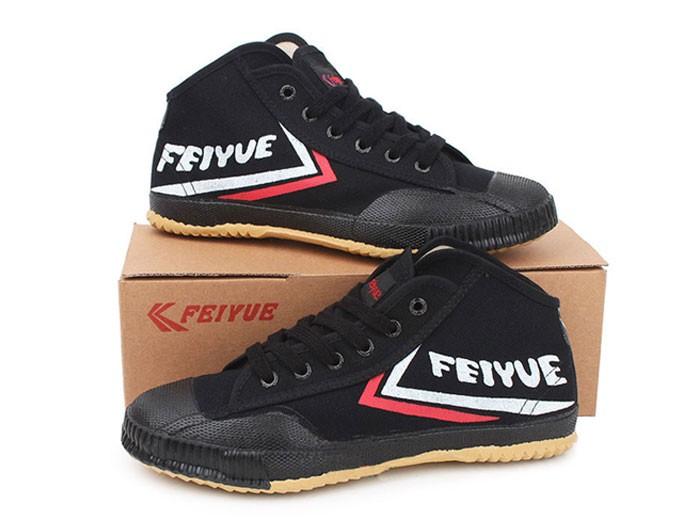 Feiyue High Top Shoes Black @ ICNbuys.com