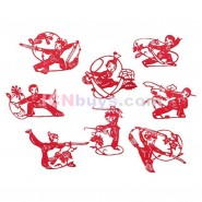 Chinese Paper Cutting, Chinese Paper Cutting Martial Arts, Chinese Paper Cutting Wushu, Chinese Paper Cutting Kung Fu