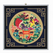 Chinese Paper Cutting, Decorative Paper-cut Frame, Decorative Paper-cut Frame Carp to Dragon