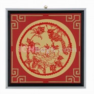 Chinese Paper Cutting, Decorative Paper-cut Frame, Decorative Paper-cut Frame Flower Bird