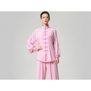 Tai Chi Clothing Set Casual Style Pink