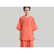 Tai Chi Clothing, Half-sleeve Tai Chi Clothing, Orange Tai Chi Clothing, Tai Chi Clothing Pink, Tai Chi Clothing for Woman, Tai Chi Uniform, Chinese Tai Chi Clothing, Chinese Tai Chi Uniform, Tai Chi Casual Clothing