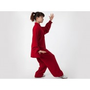 Tai Chi Clothing, Flax Tai Chi Clothing, Claret Tai Chi Clothing, Tai Chi Clothing for Woman, Tai Chi Uniform, Chinese Tai Chi Clothing, Chinese Tai Chi Uniform, Tai Chi Casual Clothing