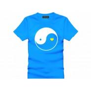 Tai Chi T-shirt, Tai Chi T-shirt Heart, Tai Chi T-shirt Blue