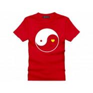 Tai Chi T-shirt, Tai Chi T-shirt Heart, Tai Chi T-shirt Red