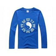 Tai Chi T-shirt, Tai Chi T-shirt long sleeve, Tai Chi T-shirt Blue