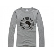 Tai Chi T-shirt, Tai Chi T-shirt long sleeve, Tai Chi T-shirt Grey