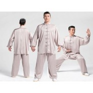 Tai Chi Uniform Silk and Satin Suit for Men and Women
