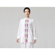 Tai Chi Clothing women long-sleeved White Uniforms