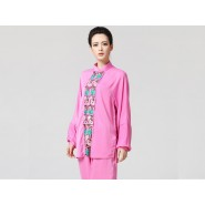 Tai Chi Clothing women long-sleeved Pink Uniforms
