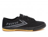 Feiyue Plain Canvas Sneakers - Black Shoes